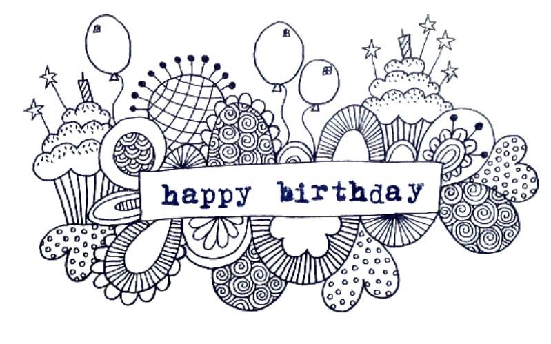 Happy Birthday Doodle Tazi Art